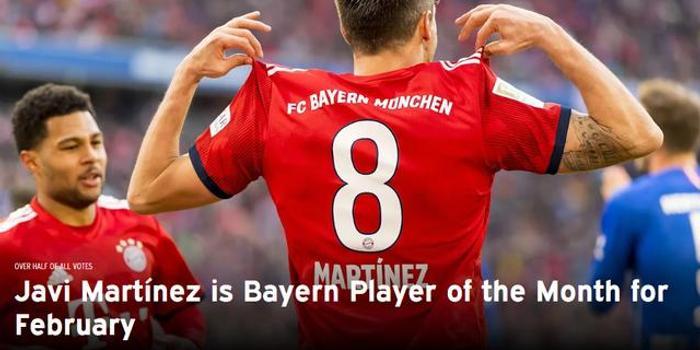 拜仁2月最佳是他!锁死利物浦+闪耀德甲 力压2帝星