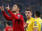 欧预赛-C罗斩700球 葡萄牙1-2负 乌克兰提前出线