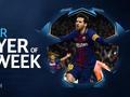 梅西当选欧冠本周最佳球员 两射一传打爆切尔西
