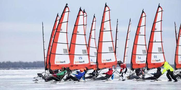 紫气东来一帆风顺! 全国冰上帆船公开赛起航