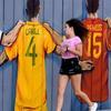俄罗斯街头世界杯涂鸦