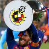 队长梅西捧起西甲冠军奖杯