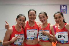 世锦赛中国男女4乘100米首次齐进决赛 男队破纪录