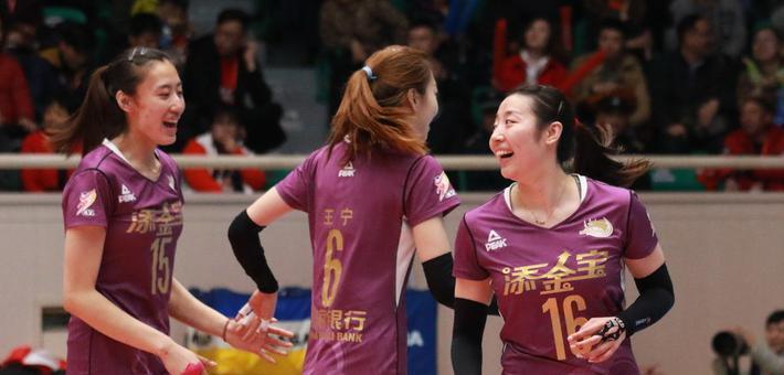 女排联赛决赛Ⅲ天津3-1上海