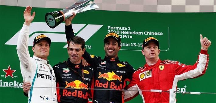 F1中国站正赛 里卡多完美致胜!