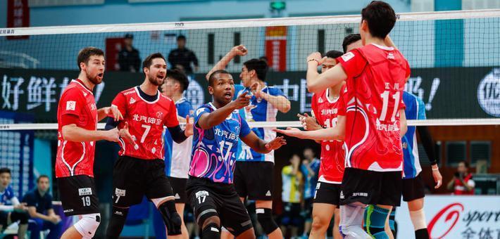 男排决赛第五场北京3-1上海