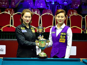 中式台球世锦赛韩雨17-14刘莎莎 女子组强势加冕