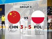 世界大学生五人制锦标赛小组赛第三场中国不敌波兰