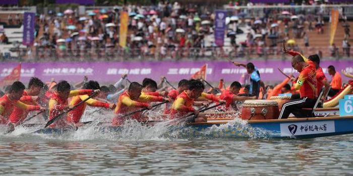中华龙舟赛成都简阳站打响 数万观众见证冠军诞生