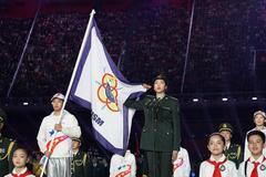 军运会袁心玥代表全体运动员宣誓 反对使用兴奋剂