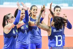 军运会巴西女排3-1逆转朝鲜 卫冕冠军率先进决赛