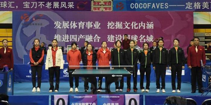 2019年中国职工乒乓球联赛总决赛在鞍山开幕