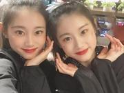 大五最美啦啦队姊妹花 内蒙财经贺羽贺喆的故事