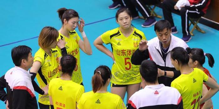 排位赛山东女排3-1力克辽宁 杜清清砍下20分