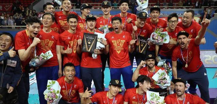 王朝!上海男排力夺队史第14冠