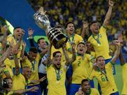 视频-热苏斯传射染红 巴西胜秘鲁第九次夺美洲杯冠军