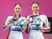 视频-花样游泳双人自由自选决赛 中国组合再添一银