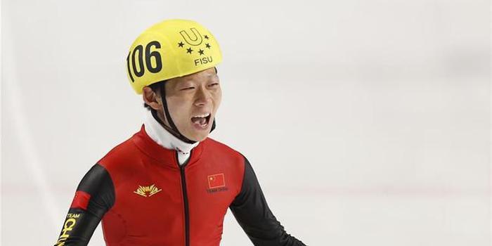 大冬会安凯短道速滑男子1500米夺冠 取中国首金