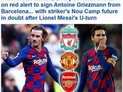 曼联利物浦抢巴萨亿元王牌 梅西留队恐让他离开