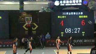 女子决赛惊现三打二 挂绷带打比赛