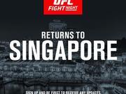UFC格斗之夜重返新加坡 10月连续第3年到访狮城