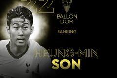 孙兴慜排名金球奖第22名 创亚洲球员最高排名!