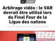 曝欧国联4强战开始使用VAR 为这技术取消底线裁判