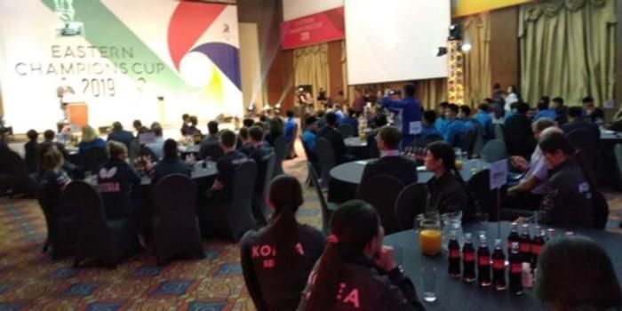 首届韩朝中俄日乒乓球赛开幕 东北亚5市对话切磋