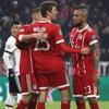 欧冠-莱万2射1传 穆勒2球1助 拜仁5-0