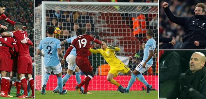 英超-曼城3-4客负利物浦 赛季首败
