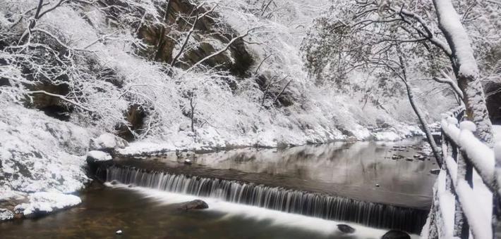 太平国家森林公园冰封如环境