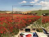 """艺术家欧美风景画和大自然""""无缝衔"""