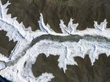 韩国京畿道湖水结冰,呈现美丽图案