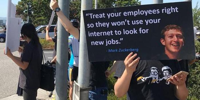 Facebook华人员工跳楼引抗议 拼命工作却面临辞退