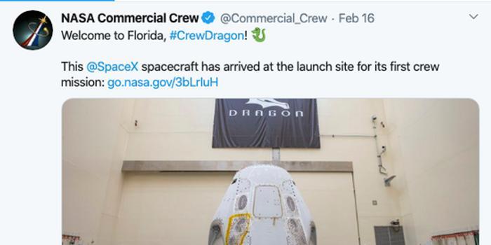 NASA:SpaceX将成首个送宇航员到空间站的私人公司