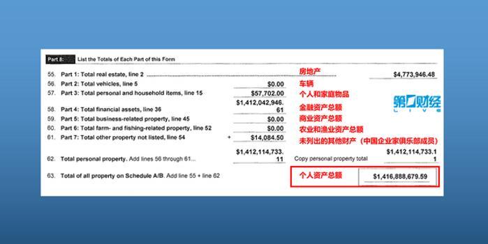 贾跃亭破产申请文件曝光:个人资产14.1亿美元