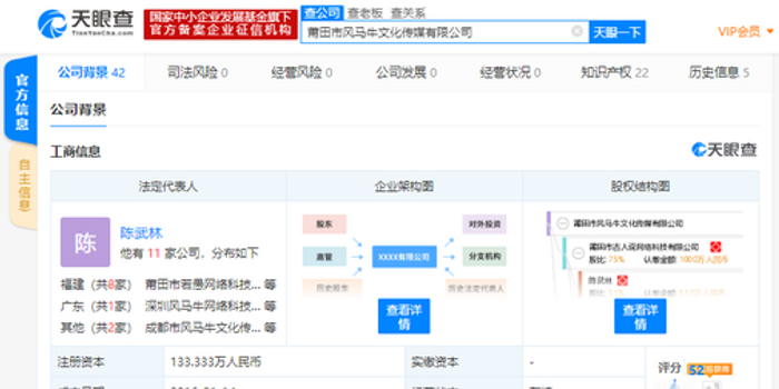 字节跳动投资MCN机构风马牛传媒 间接持股25%