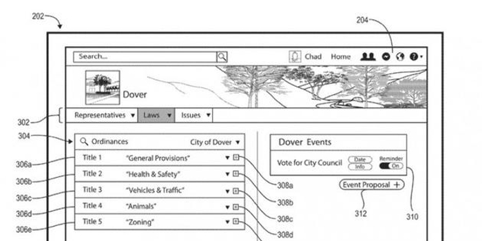 Facebook新专利:为公民提供讨论和反馈新法网上渠道