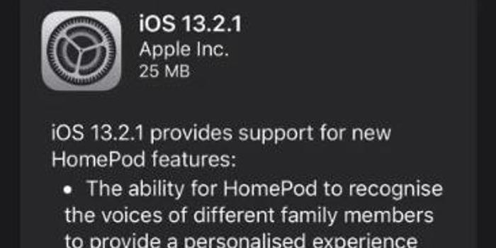 蘋果推HomePod 13.2.1更新 主要解決變磚問題