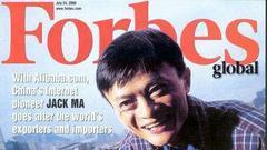 11年后马云再登《福布斯》封面