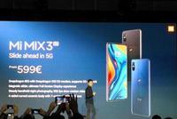 直击|小米发布MIX3 5G版本 599欧元起售