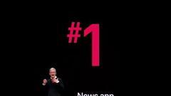 苹果推全新AppleNews+新闻服务 应用排名榜单第一
