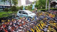 调查:共享单车企业接连遇困 超半数用户欲先退押金