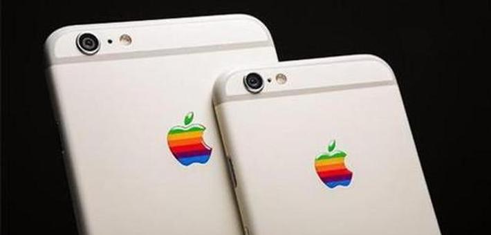 复古情怀 苹果注册彩虹色logo商标