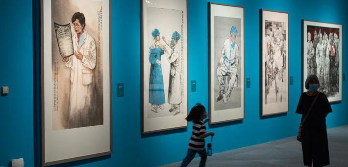 抗疫主题美术作品展在国博举行
