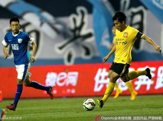 恒大队长郑智在禁赛3场后本场复出