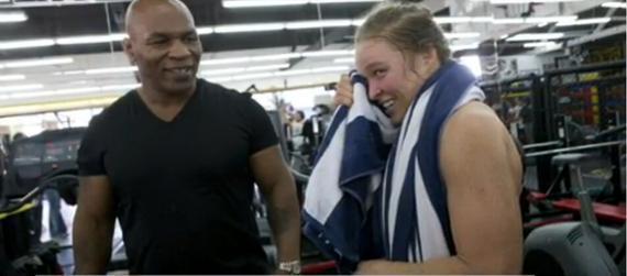 泰森亲自观摩了罗西的日常训练