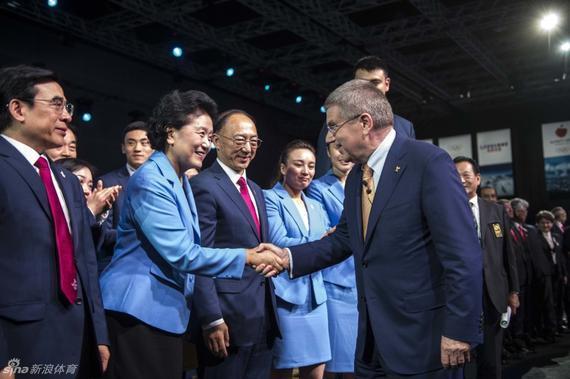 国际奥委会主席巴赫祝贺北京