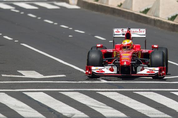 f1运动重返墨西哥.f60是法拉利车队的2009款f1赛车,而驾驶它高清图片