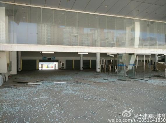 泰达球场遭逢重大破坏